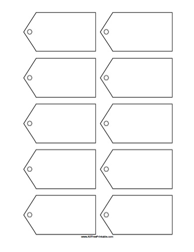 5 Images of Printable Blank Tag Templates