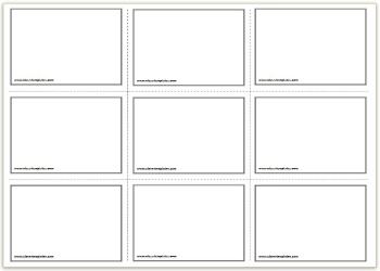 8 Images of Printable Blank Vocabulary Cards