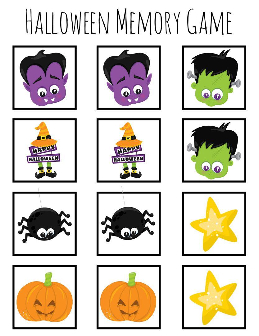 Printable Halloween Memory Card Games