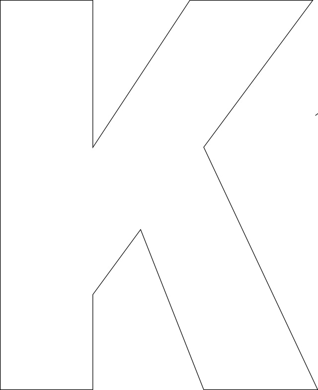 4 images of free printable letter k