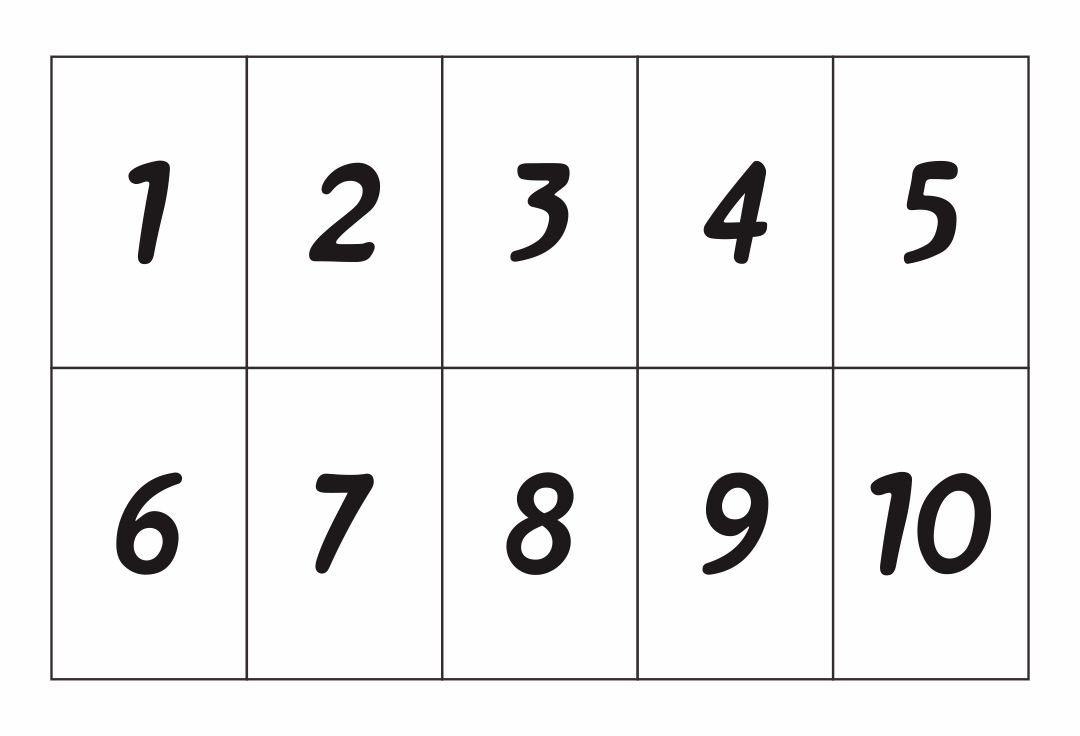 Influential image regarding printable number cards 1-10