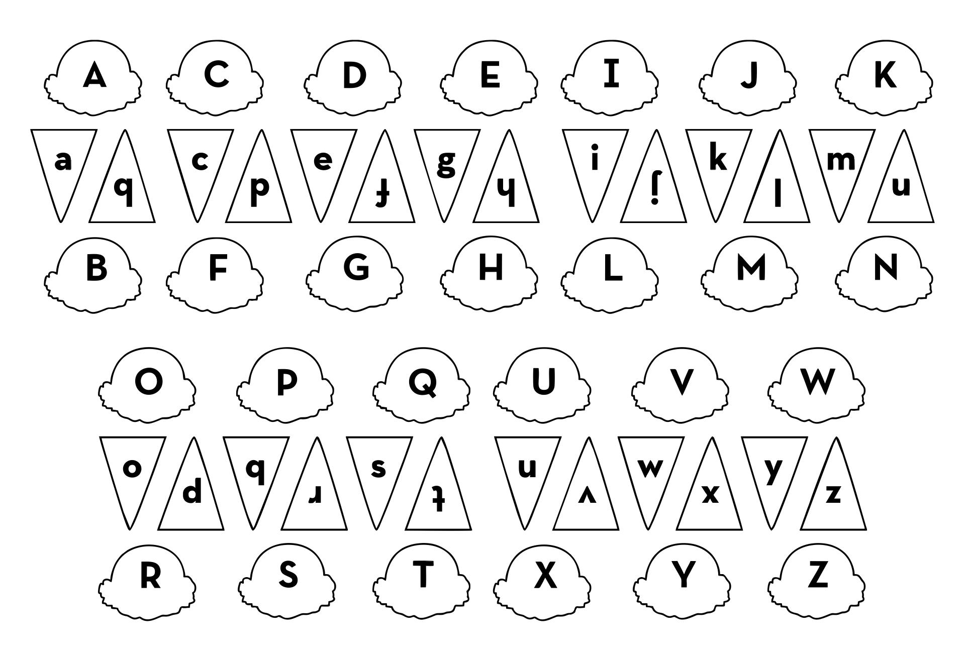 Printable Preschool Alphabet Games for Ice Cream