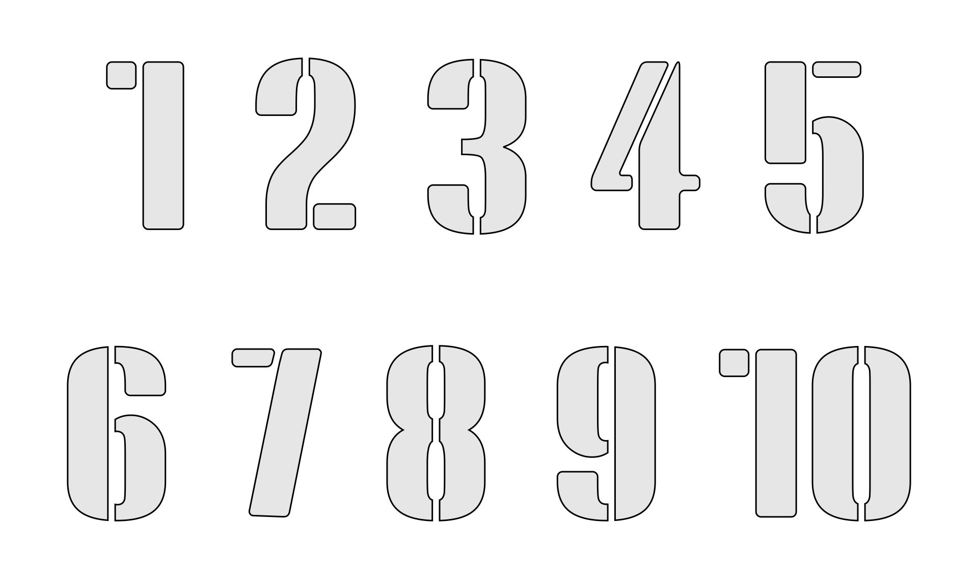 9 best images of printable block numbers 1 10 free for Free number templates to print