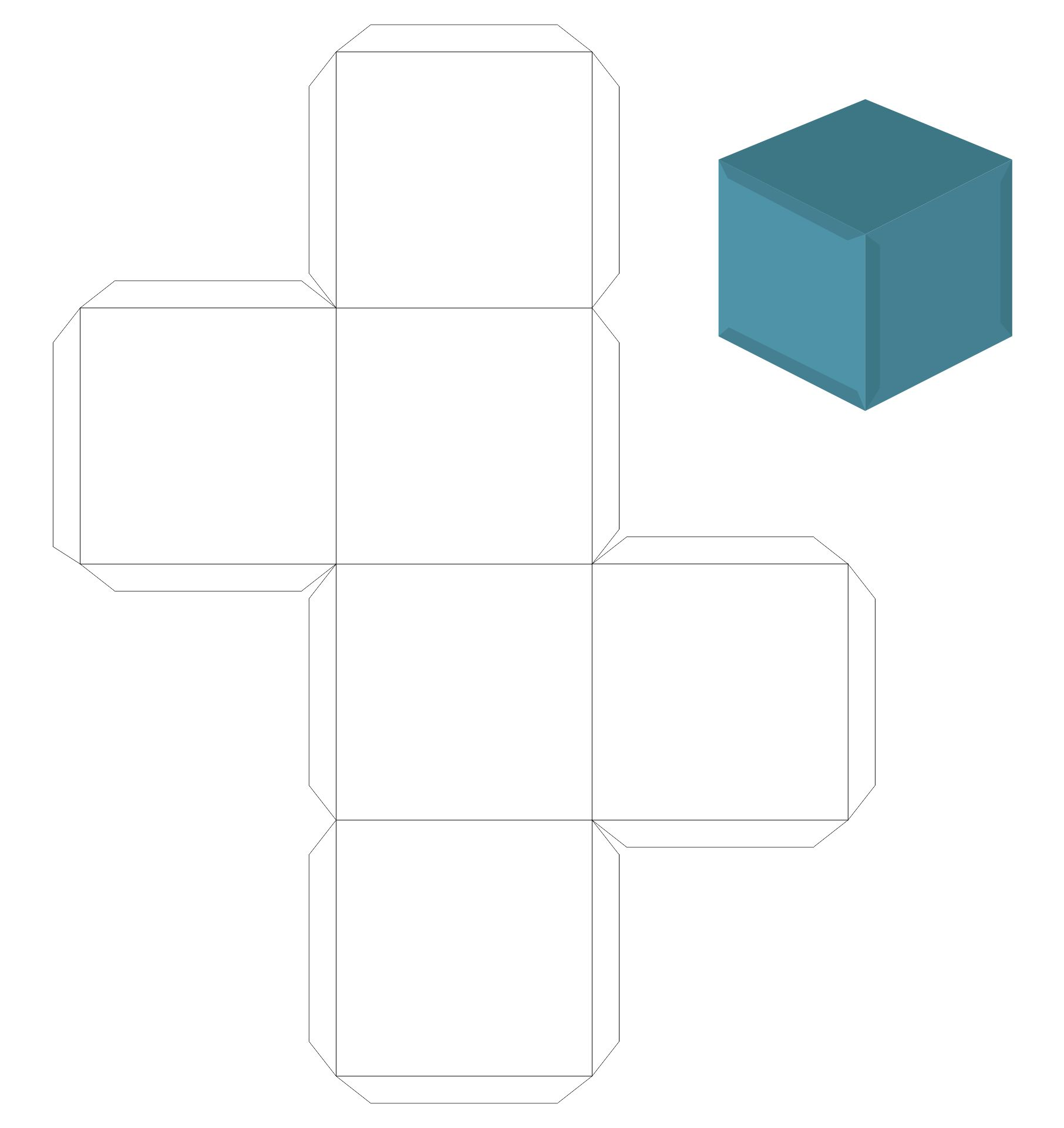 Rectangle Box Template Printable