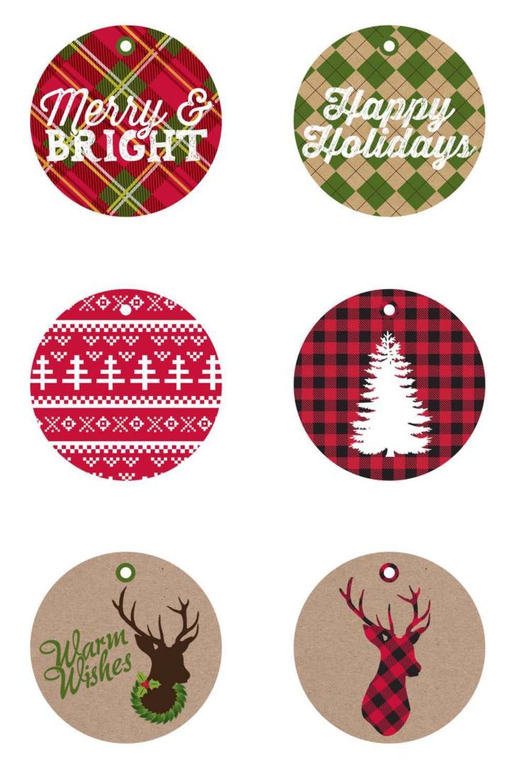 Rustic Christmas Tags Printable