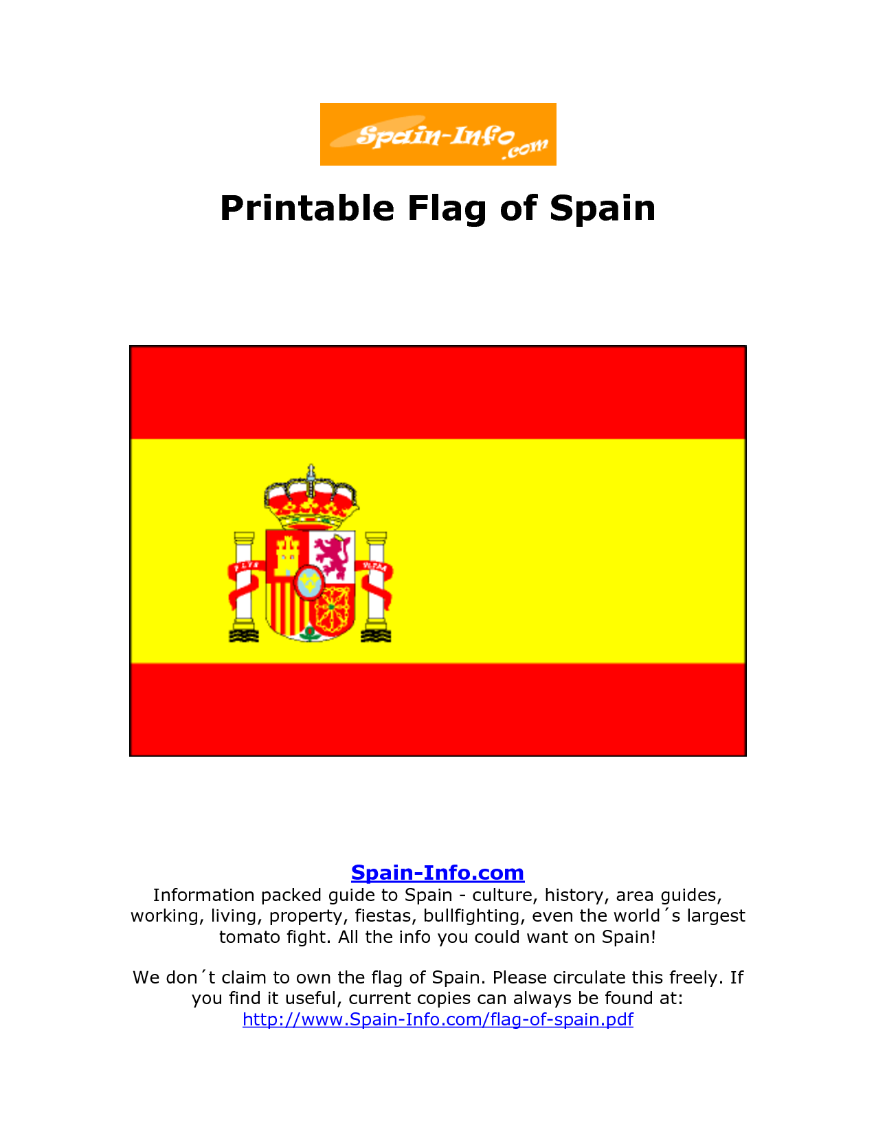 7 Best Images Of Printable Flag Of Spain Spain Flag Flag Of Spain Coloring Page
