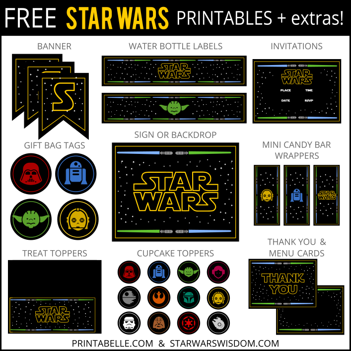 6 Images of Star Wars Birthday Printables Free