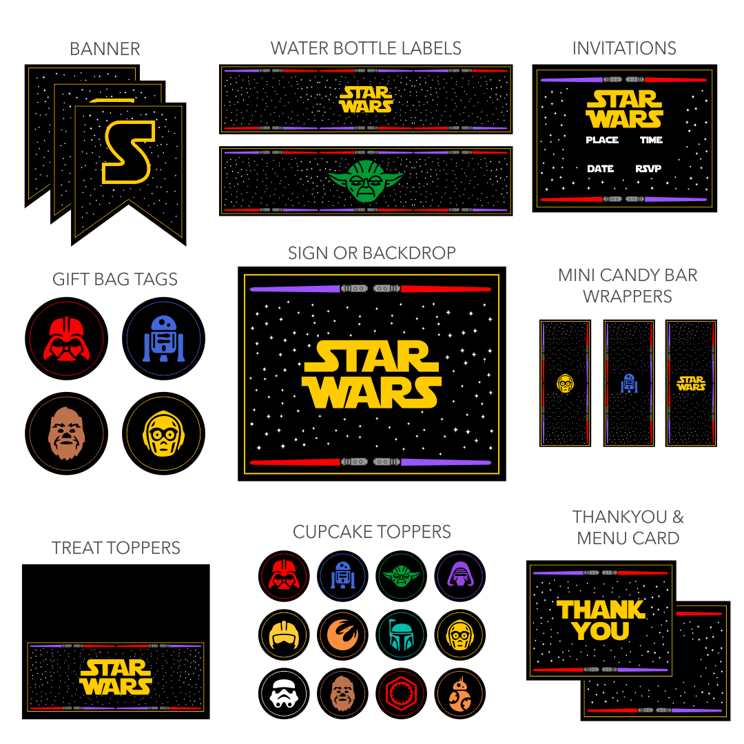Star Wars Printables for Parties