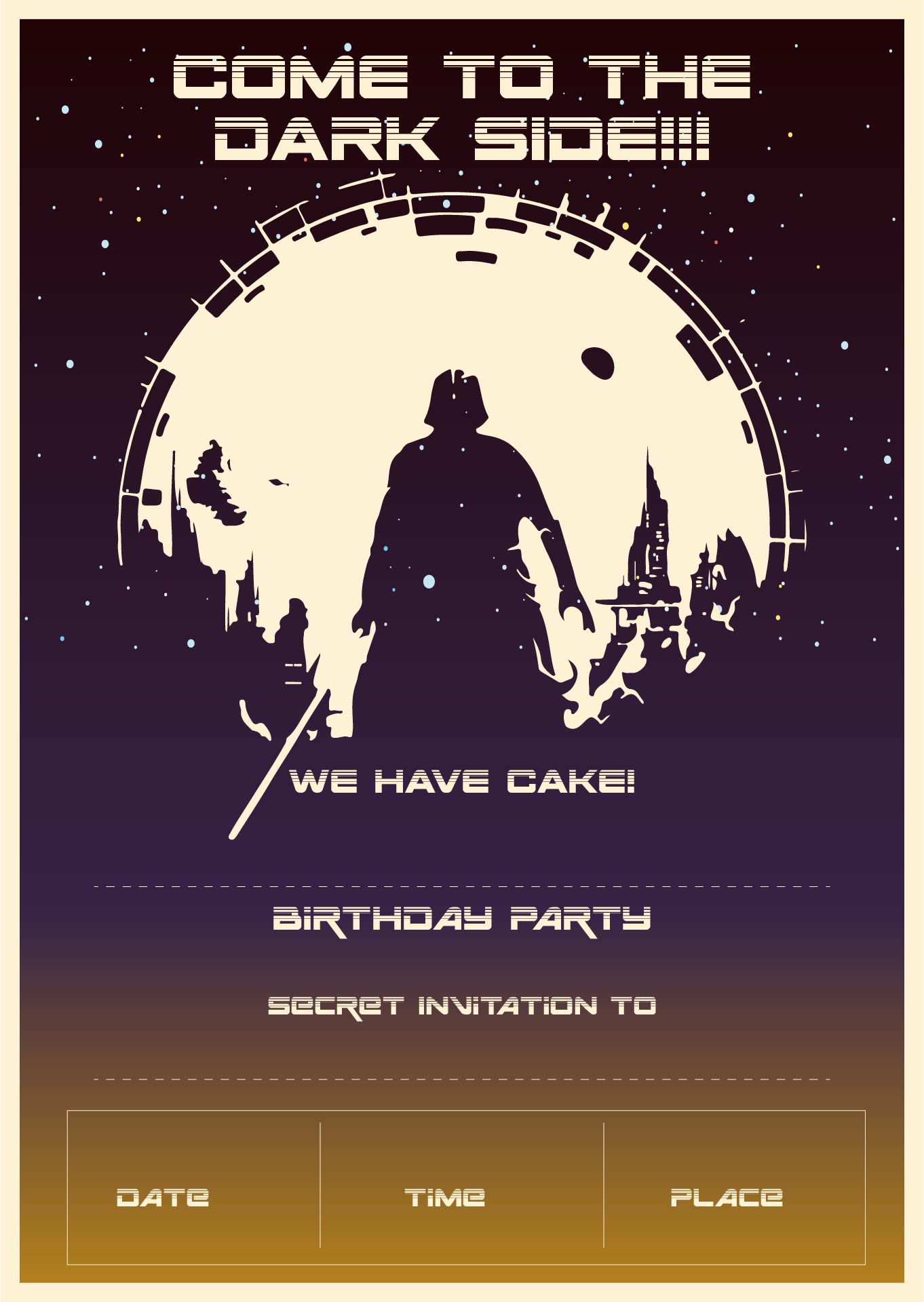 Star Wars Party Invitations Printable Free