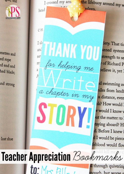 Teacher Appreciation Bookmark