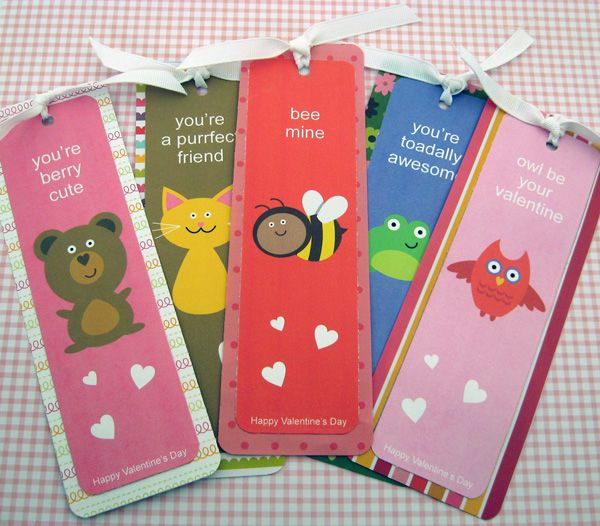 Valentine Bookmark Sayings