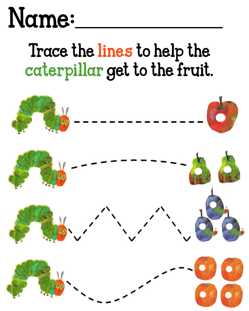 5 Images of The Very Hungry Caterpillar Printables