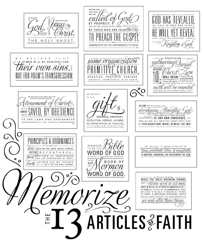Articles Of Faith Coloring Pages