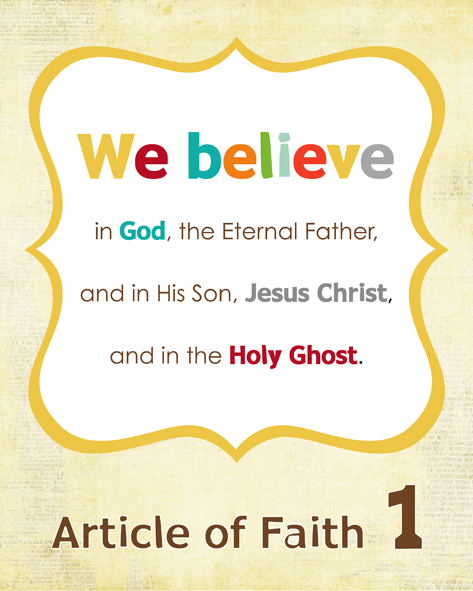 7 Images of First Article Of Faith Printable