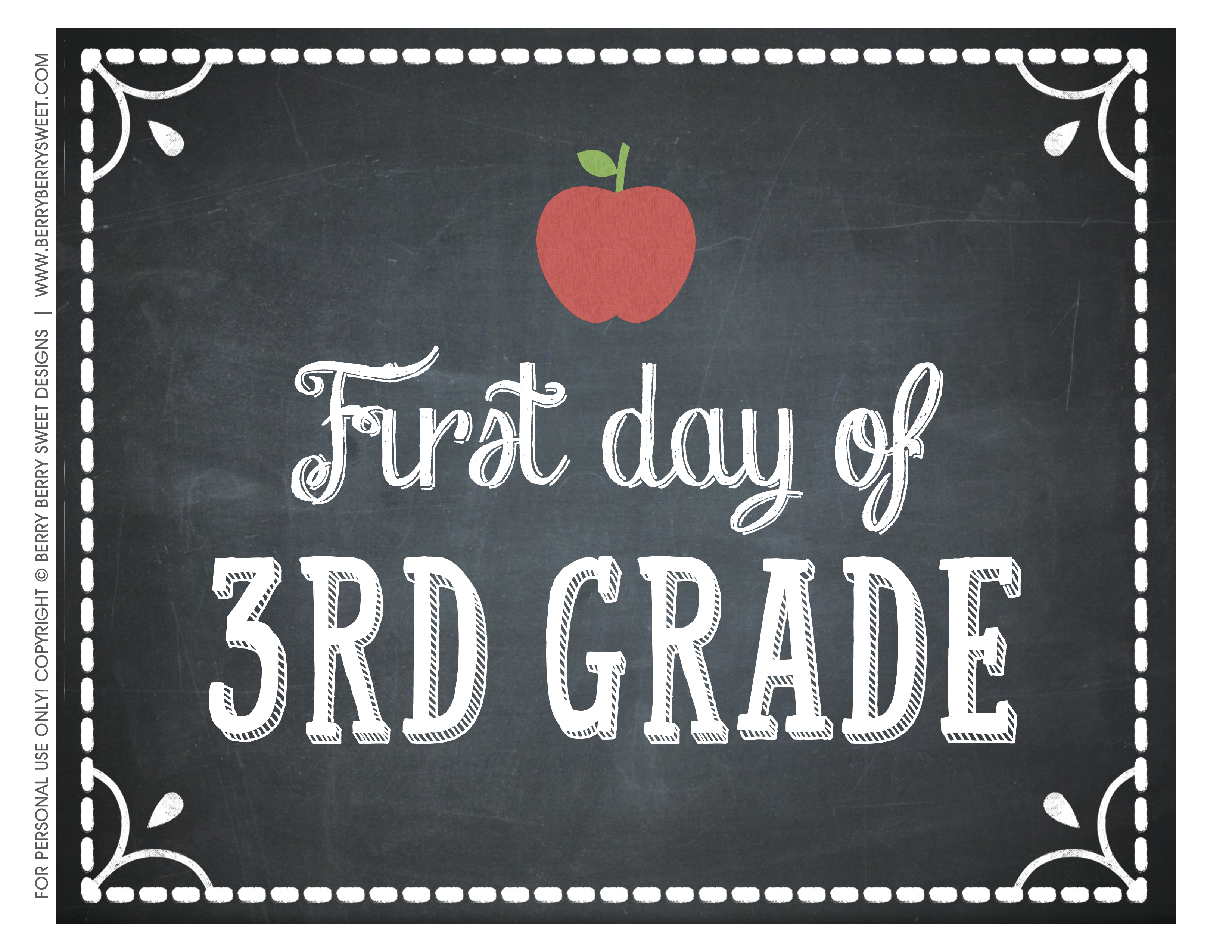 how to make a 1st day of school sign