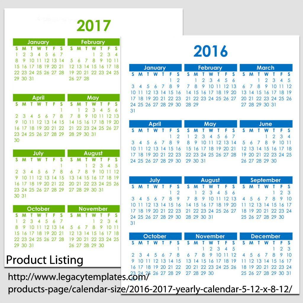 6 Images of 8 X 11 Printable 2016 Calendar