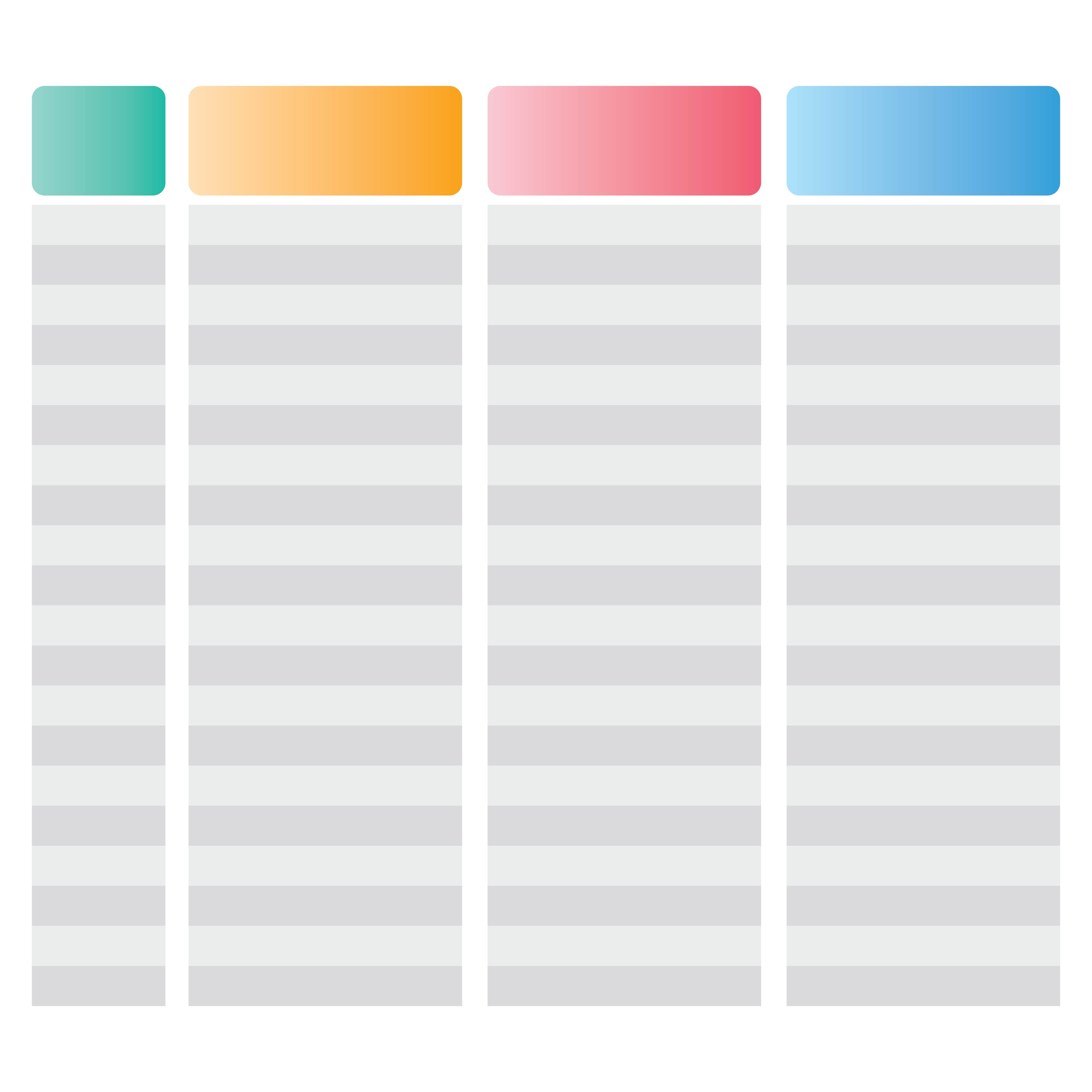 3 Column Spreadsheet Template