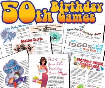 6 Images of Free Printable 50th Birthday Party Games