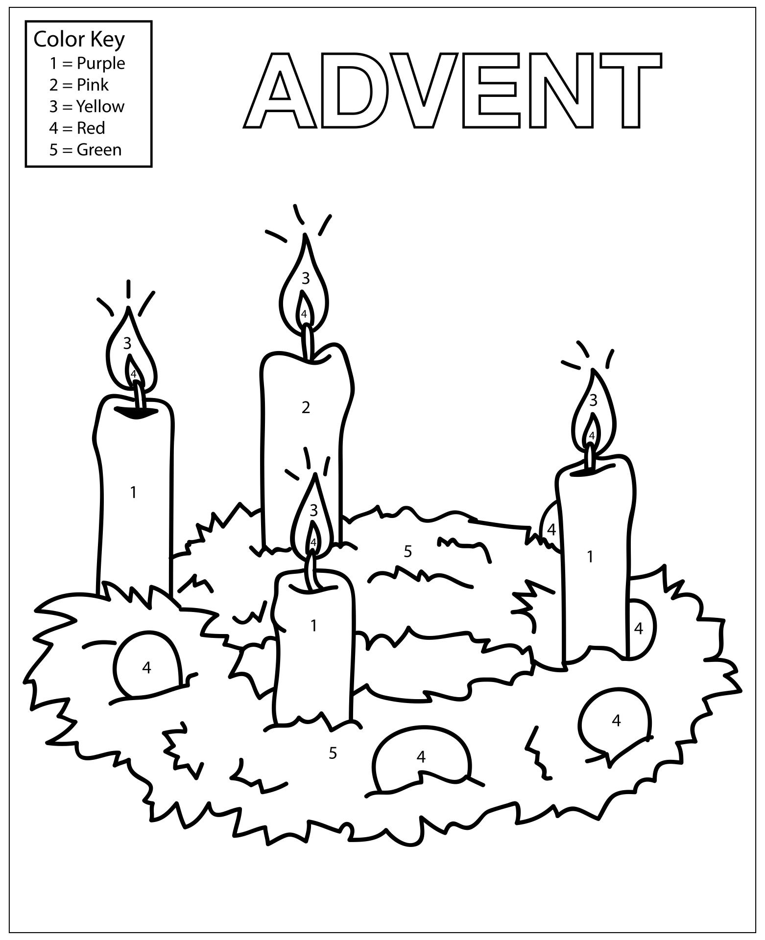 Advent Wreath Worksheets Printable