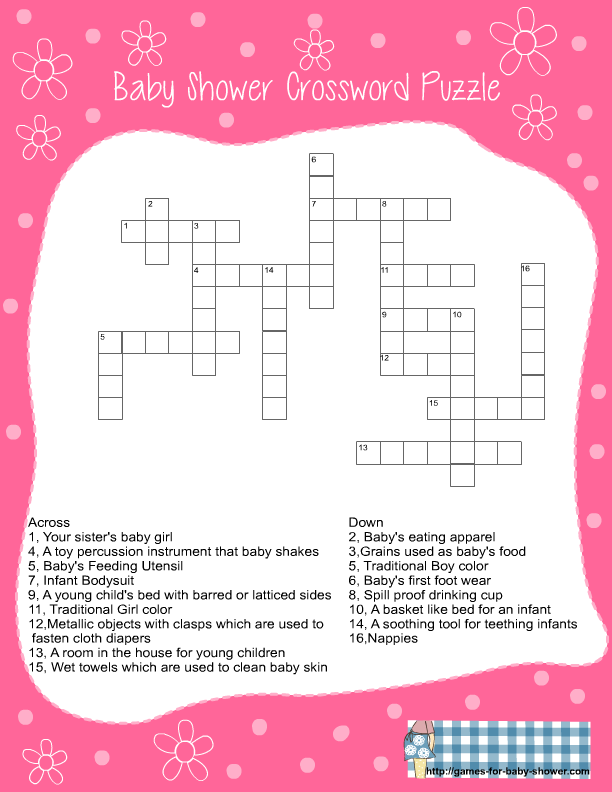6 Images of Printable Crossword Puzzles Game