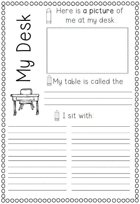 School Worksheets 1st Grade : Printable memory book for first grade