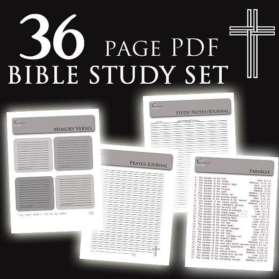 Bible Study Journal Pages Printable