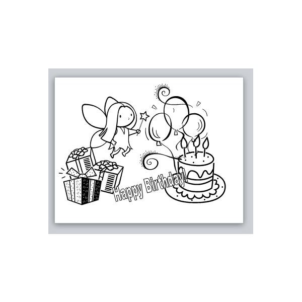... Cards Printable, Black and White Birthday Card Template and Printable