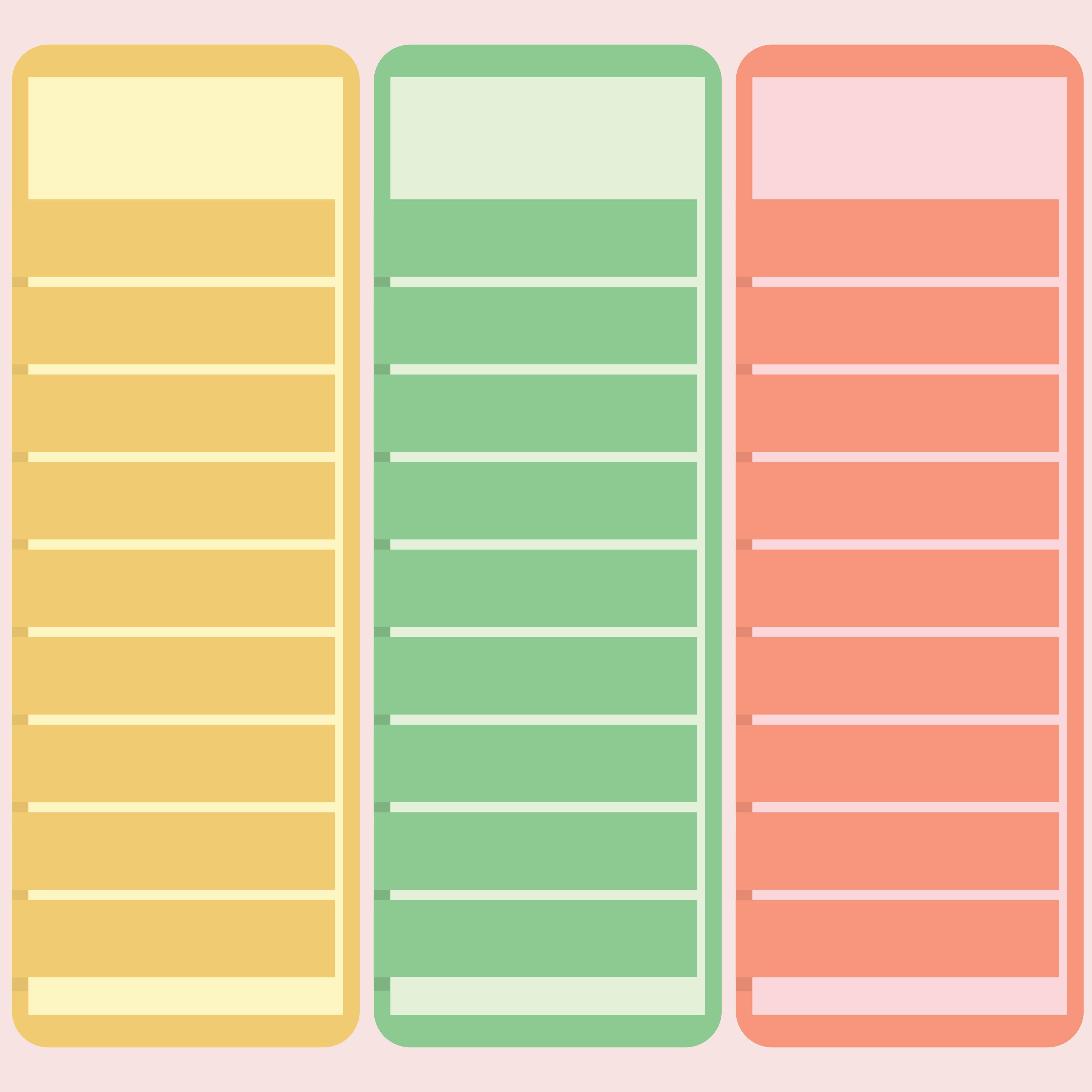 Blank 3 Column Spreadsheet Template