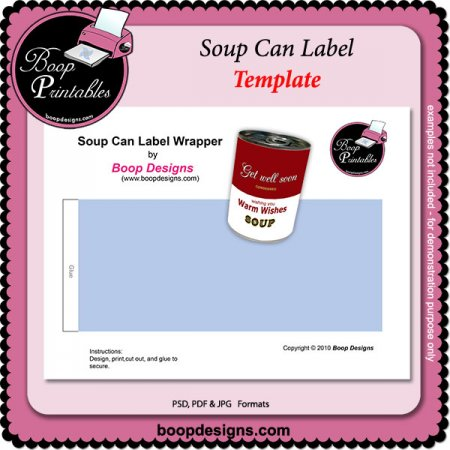 5 Images of Soup Can Labels Printable
