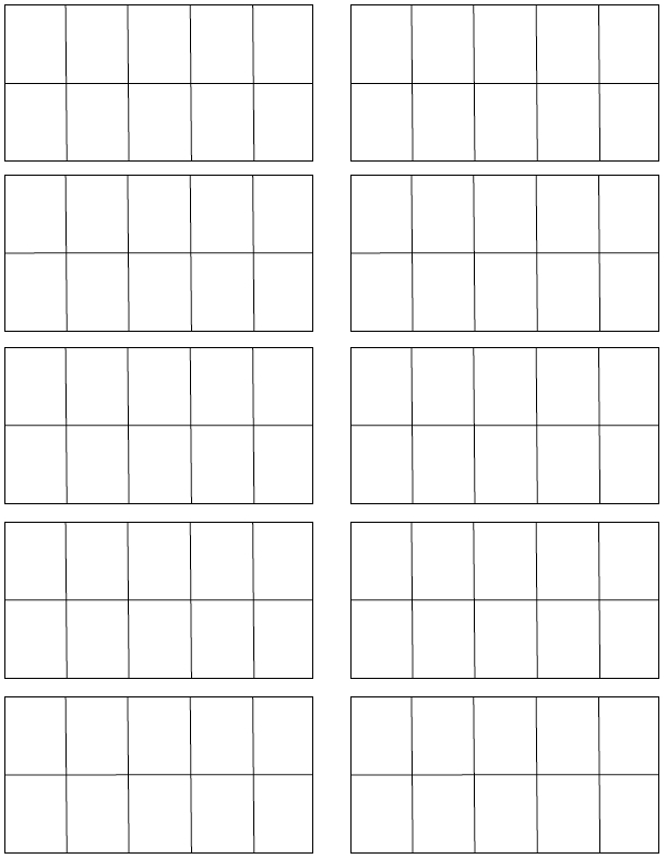 7 Images of Printable Blank Ten Frames