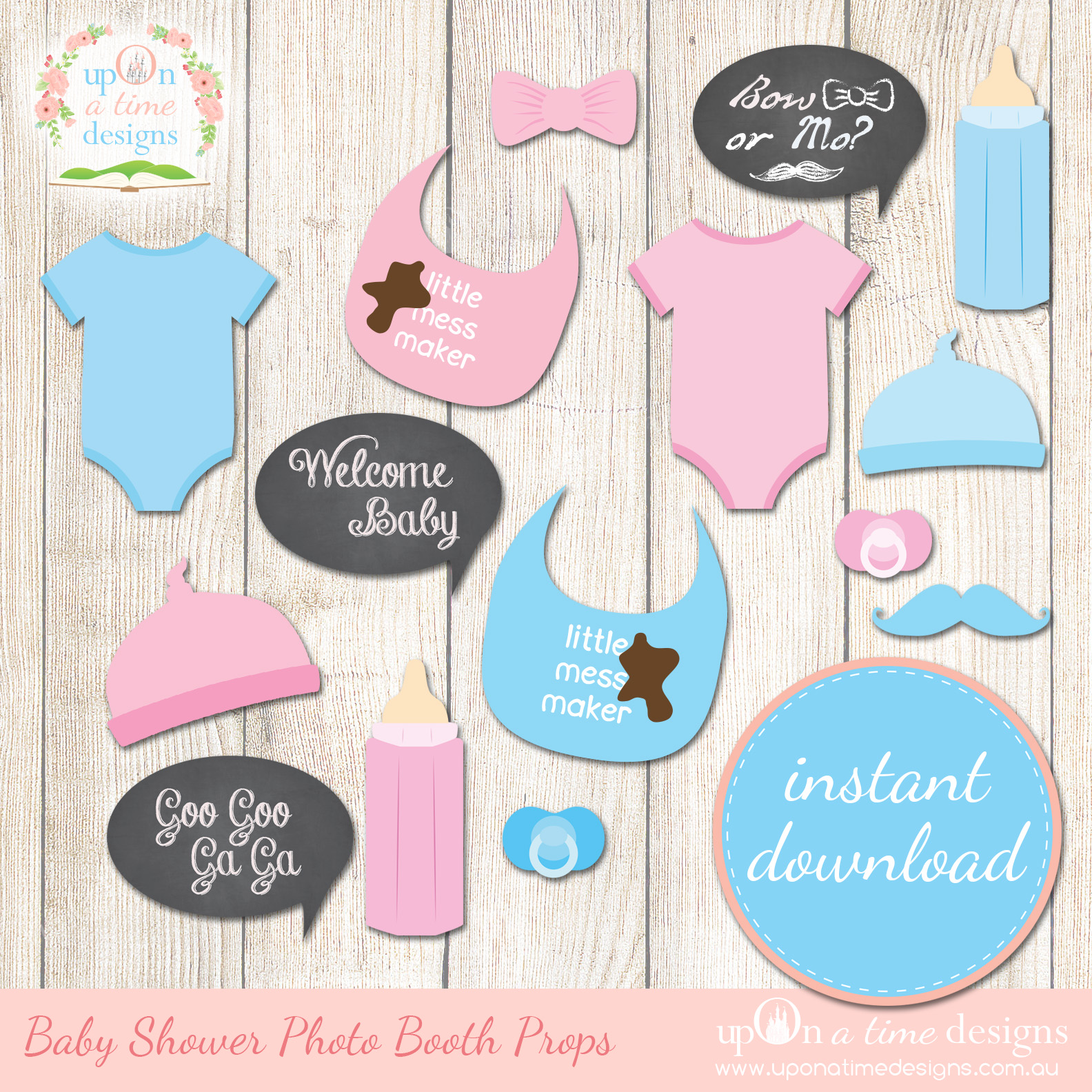 8 Images of Free Printable Baby Shower Props