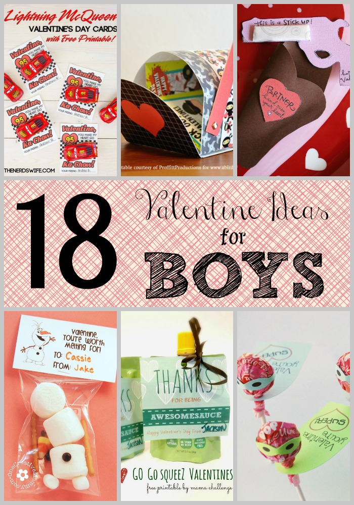 9 Best Images of Ideas For Boys Valentines Printable Free – Valentine Card Ideas for Boys