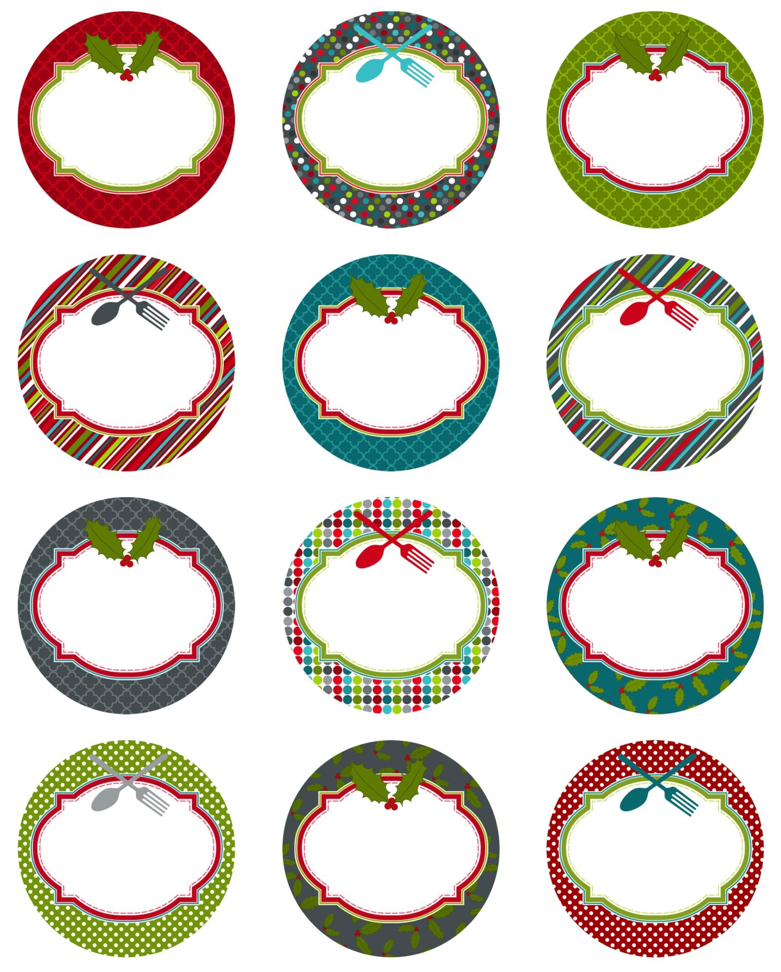 Christmas Food Label Printables