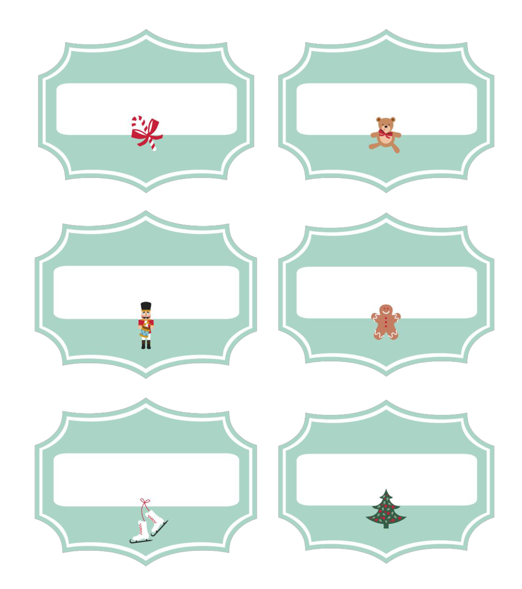 6 Images of Printable Christmas Labels For Food