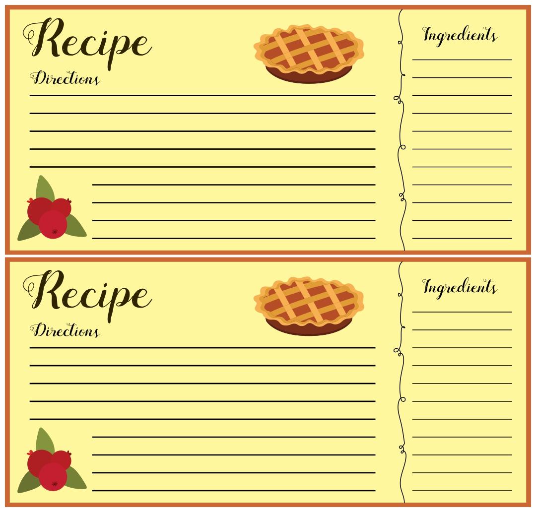Christmas Recipe Card Clip Art