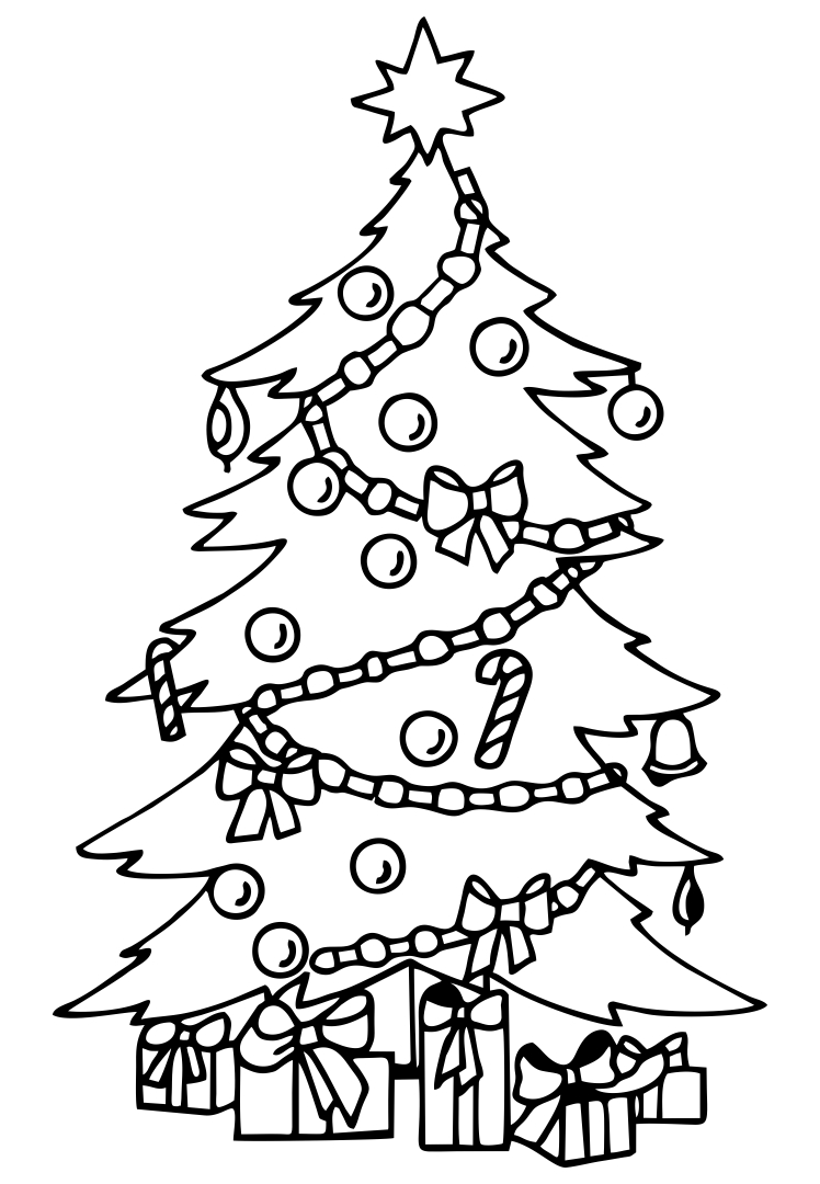 6 Images of Free Printable Christmas Tree Clip Art