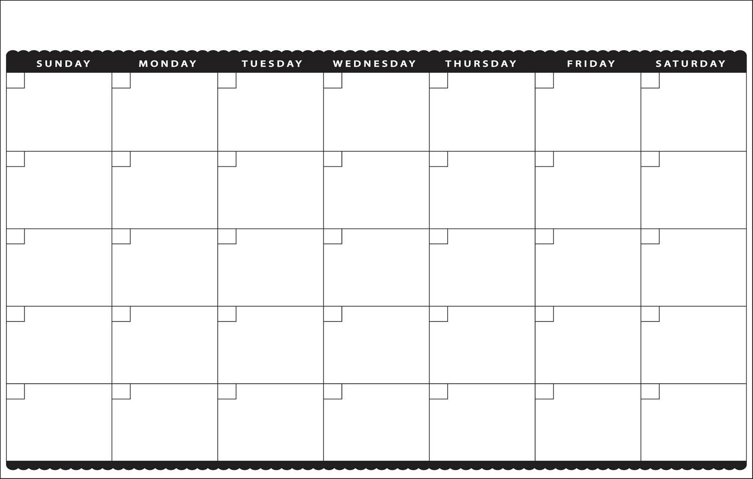 5 Images of Cute Blank Monthly Calendar Printable