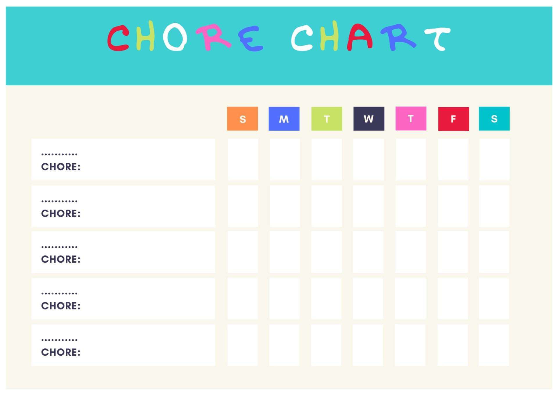 Cute Printable Chore Charts