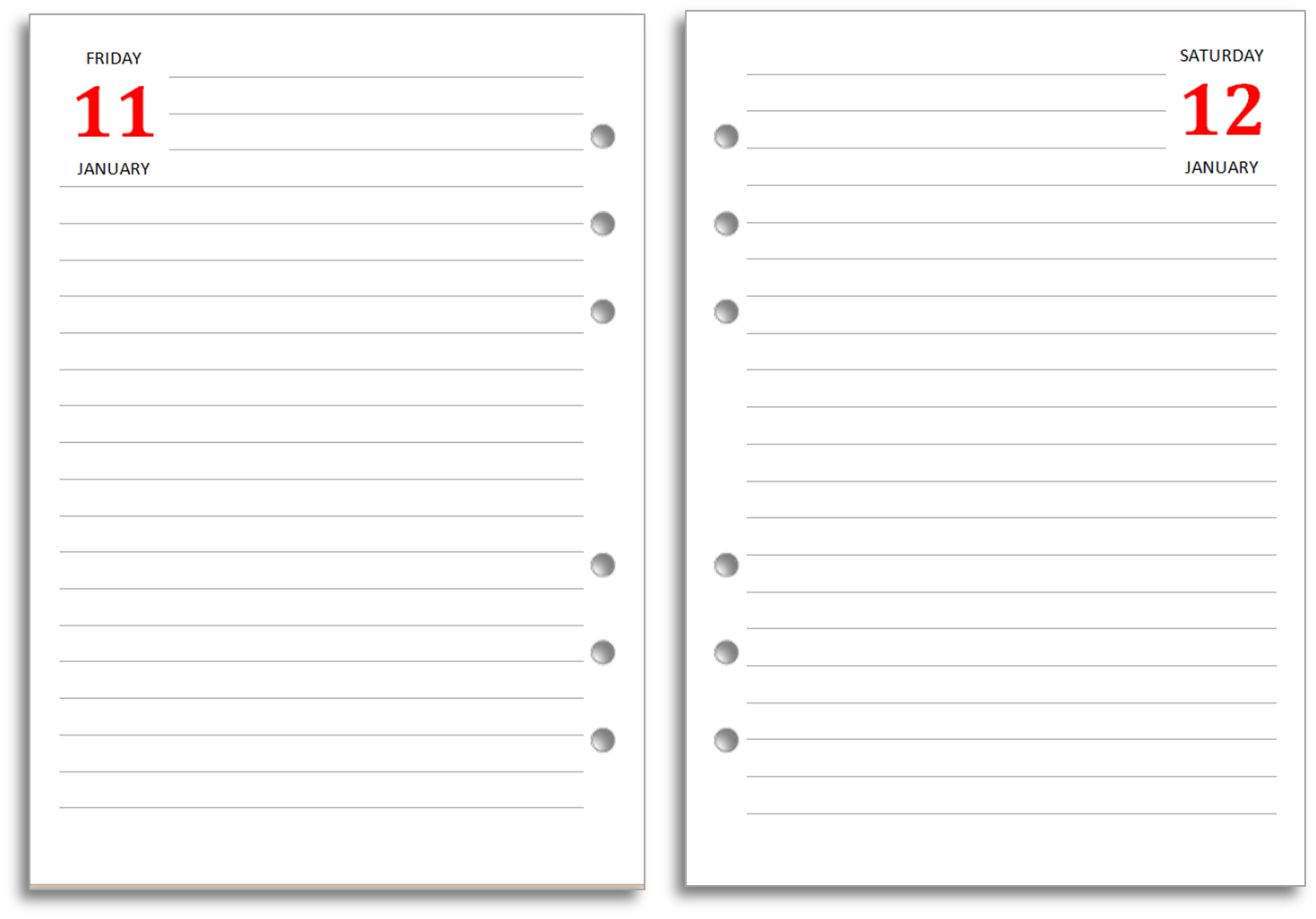 8 Images of Free Printable Diary Page Template
