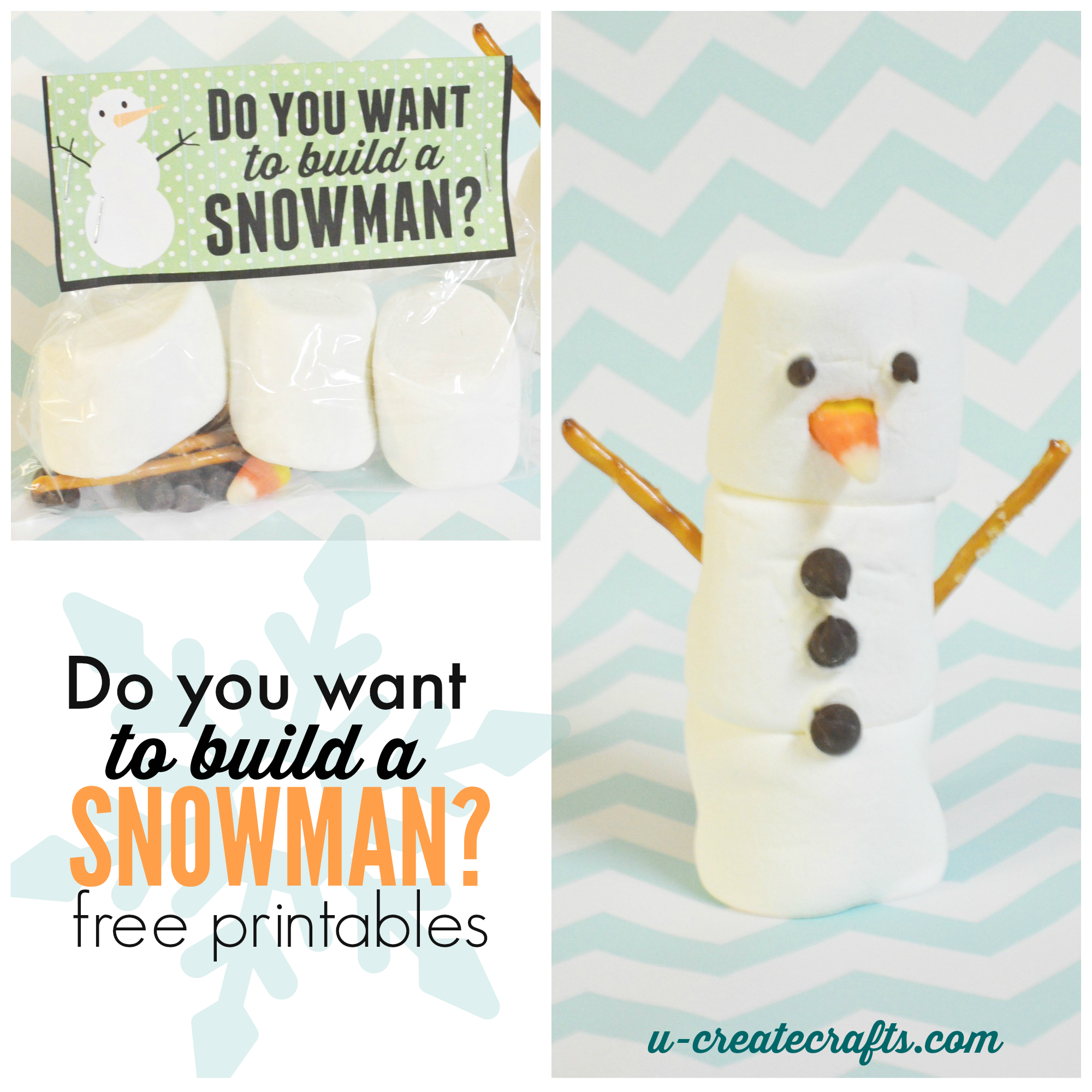 6 Images of Snowman Kit Printables