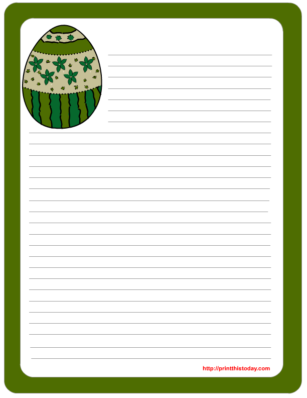 6 Images of Free Printable Easter Stationery