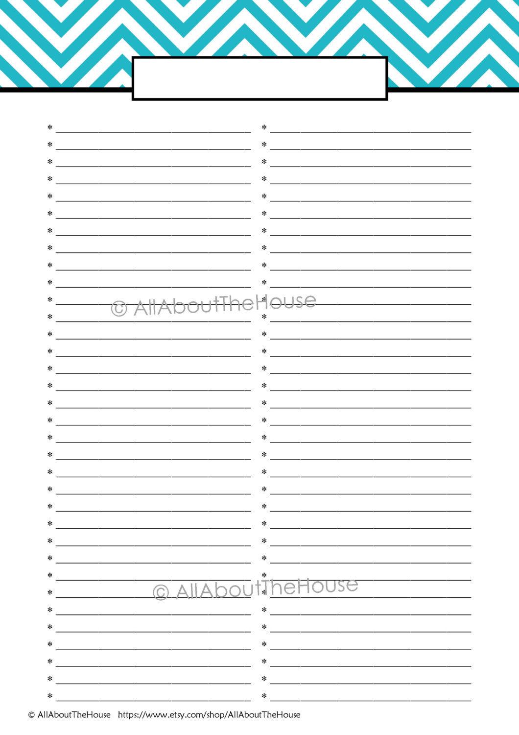 Editable to Do List Template Printable
