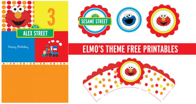 6 Images of Free Elmo Printables