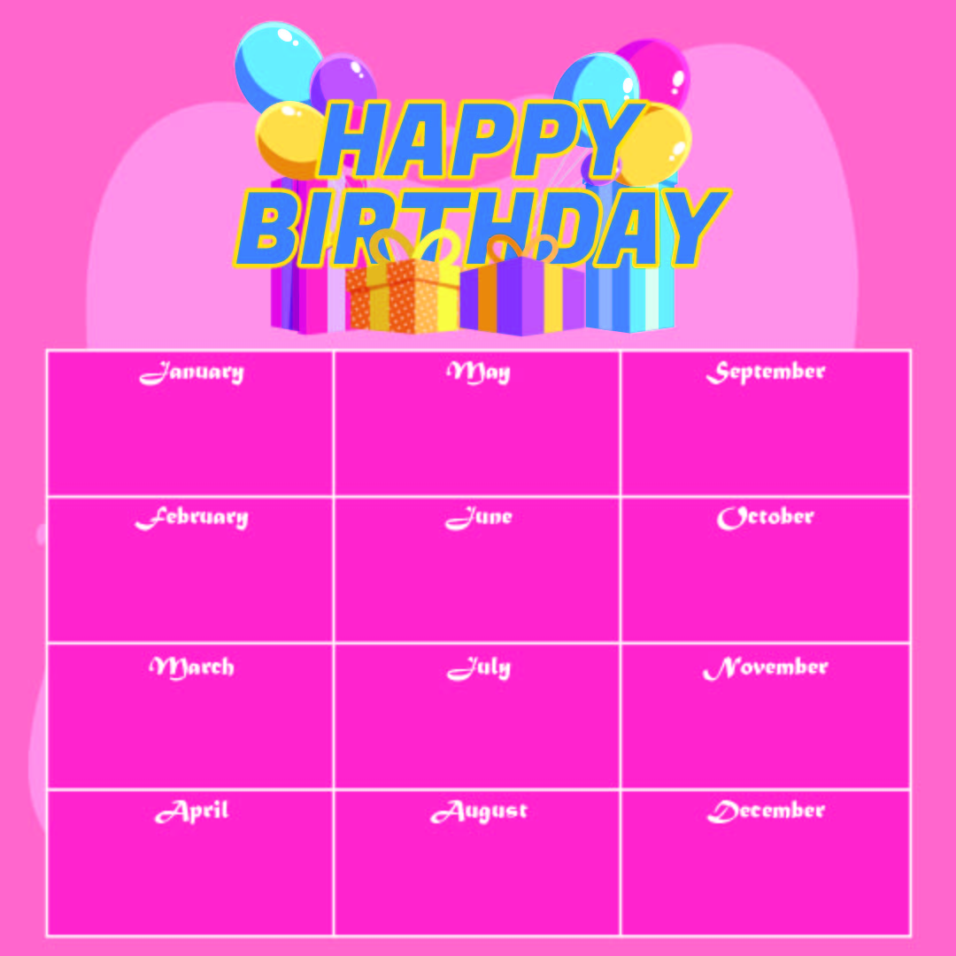 Employee Birthday List Template