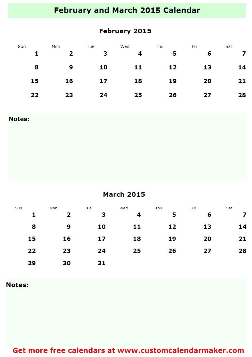March 2015 Calendar Printable Excel Online Printable Calendar Pictures ...