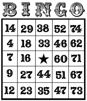 5 Images of Bingo Free Printable Pages