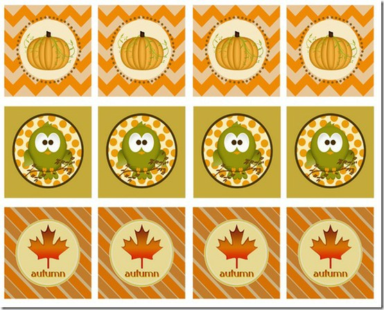 6 Images of Autumn Free Printable Labels