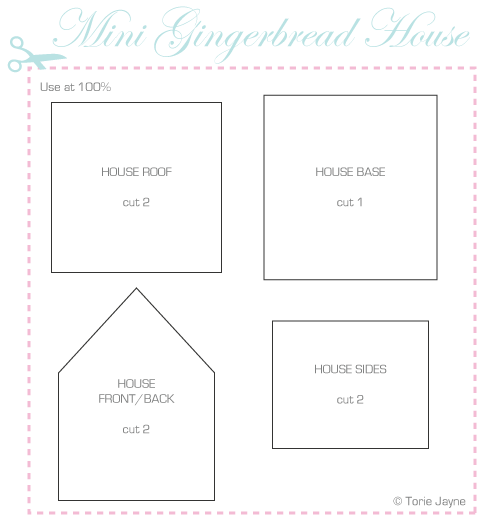4 Best Images Of Printable Gingerbread House Patterns