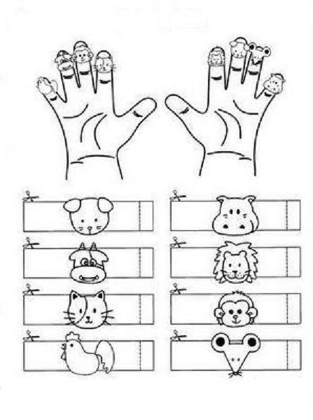 5 Images of Free Printable Spanish Family Finger Puppets