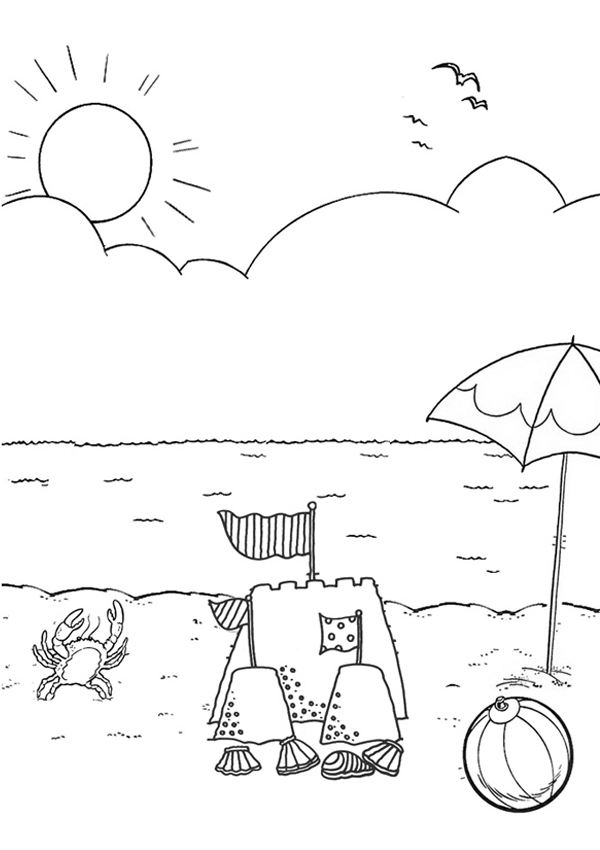 6 Images of Beach Printable Activity Sheets